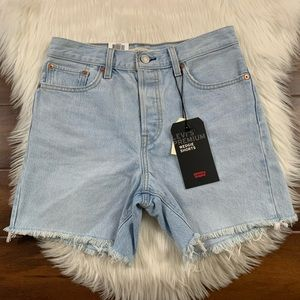 Levis Vintage Authentic Wedgie Shorts Cut Off Hems